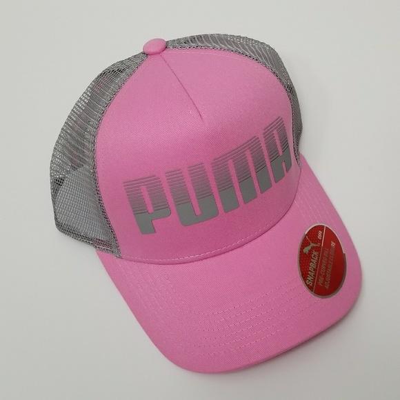 bb4dfb95f700 Puma Pink Gray Aero Trucker Cap Hat